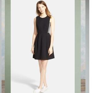 Madewell Stretch Ponte Abroad Fit & Flare Dress S